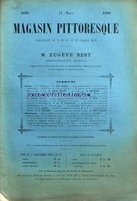 MAGASIN PITTORESQUE du 31/03/1890 - L. SCHRYVER PART GUERIN - L'AQUARIUM MARIN ET L'EAU DE MER ARTIFICIELL - GENEROSITE DE CAHRLES-QUINT - LE PETROLE ET LES EXPLOITATIONS DE BAKOU PAR BELLET - LE SAMOVAR PAR MEYERSON - LES CURIOSITES DE LA BIBLIOTHEQUE NA
