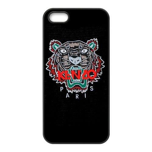 KENZO TIGER 01 coque iPhone 5 5s cellulaire cas de téléphone couvercle coque noir, téléphone cellulaire boîtier en plastique coque