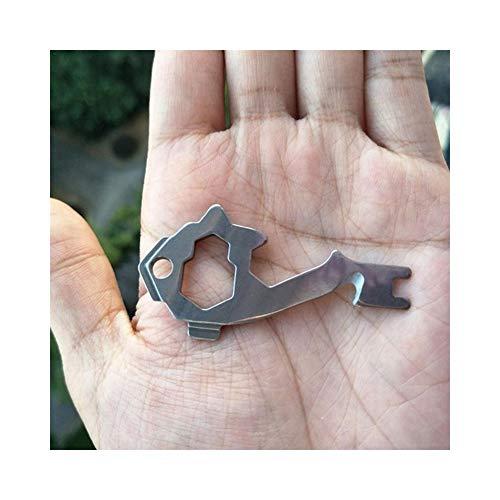 PengShi 20-in-1 EDC Multi-Tool Tasche Schlüsselanhänger Multi Tools Karabiner Schwerkraft Haken Schlüsselanhänger Outdoor Camping Survival Travel Kits (Taschen Tool,)