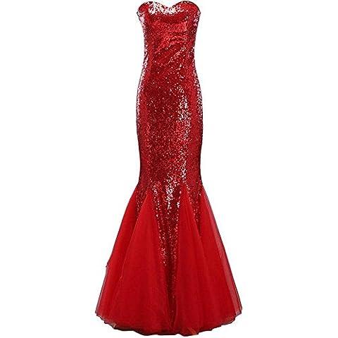 robe de fête de mariage pour femme robe de soirée nuptiale anniversaire prom glitter sequins robe v neck slim banquet fish tail sans manches zipper robes longues . 8 .