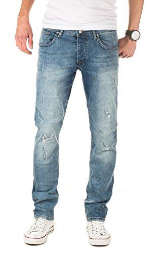 WOTEGA Herren Jeans Derrick - mit Used Look und Destroyed-Effekte