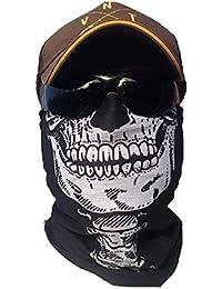 Salt Armour  svoki Squelette Tête de Mort Foulard Tuyau Rigide Masque  Protection Contre Le Froid Visage Masque Halloween Ski Snowboard… 587d5b8754b