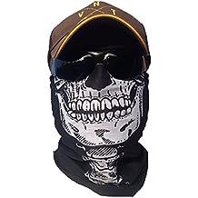 """'svoki """"Esqueleto Calavera Cuello Toalla Manguera–Máscara Máscara de protección contra el frío Halloween Esquí Snowboard Pesca Caza bicicleta y motocicleta Paintball–Pañuelo multifunción"""