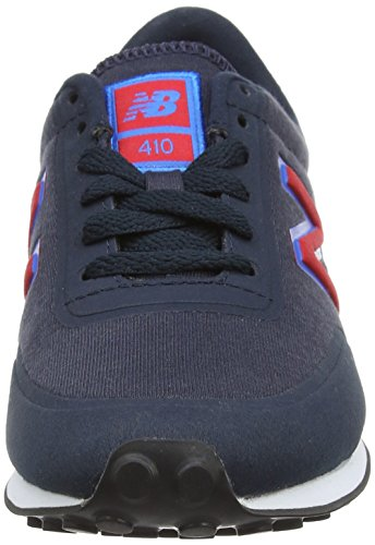 New Balance Unisex-Erwachsene U410v1 Low-Top Blau (Blue/Red)