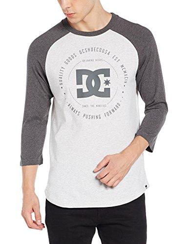 DC Shoes EDYZT03505 Rebuilt2 Snow White-Maglietta da uomo, taglia: XL (taglia del produttore: XL) grigio - Luce Grigio Melange