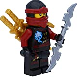 LEGO Ninjago: Minifigur Nya Skybound mit Ninja Doppelklingenschwert - 7