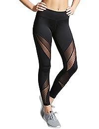 Mujer Yoga Pantalones Fitness Leggings de Cintura Alta Running Gym  Pantalones Mallas Deportes de elásticas para 4d9f613523a3