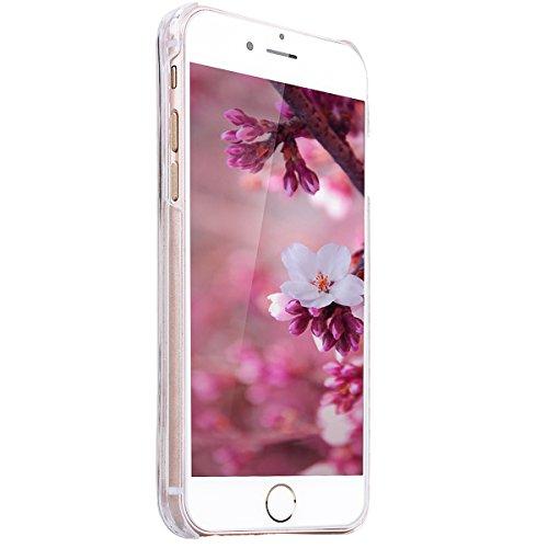 SMART LEGEND iPhone 6S Hardcase, iPhone 6 Bumper Liquid Hülle Glitter Transparent Schutzhülle mit Rosa Blume und Hase Muster Fließen Flüssig Schwimmend Premium Shiny Glanz Sparkle Bling Tasche Skin Sc Gold Flüssigkeit