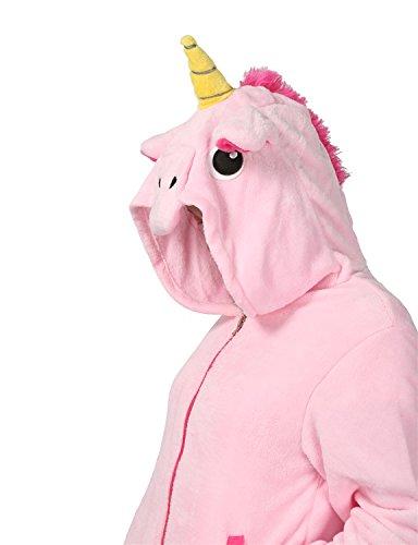 Felpe con Cappuccio Zip Hoodie Animali Giacca inverno Pelliccia Caldo Cartoon Costume Cosplay Halloween regalo per ragazza Rosa