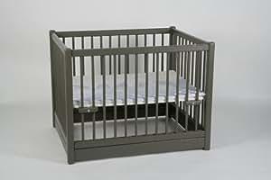 Parc bébé 75x95 cm. couleur gris taupe ref 129L