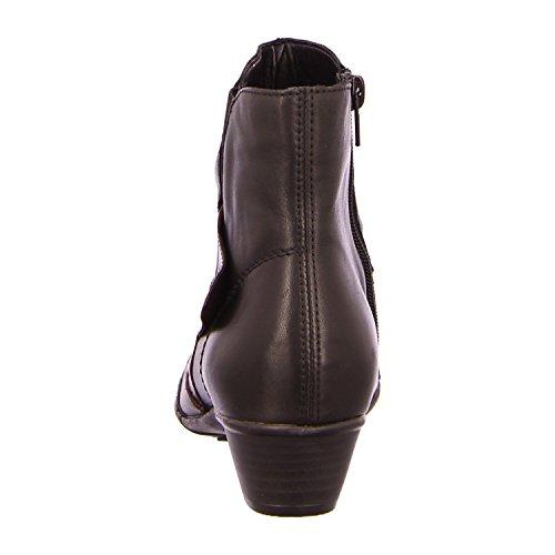 Remonte D7393 Damen Stiefelette schwarz/graphit/medo