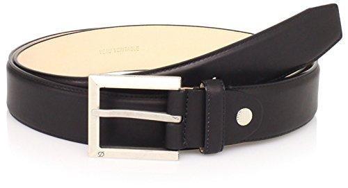 S.T. Dupont Men's Adjustable Strap Belt, Black, One Size