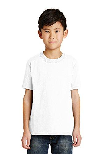 Port & Company Jungen 50/50Baumwolle/Poly T Shirt Gr. X-Small, weiß - Pc55y Port