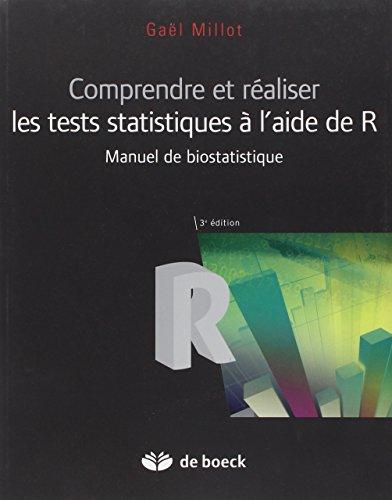 Comprendre et réaliser les tests statistiques à l'aide de R : Manuel de biostatistiques