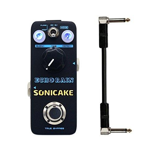 Sonicake Echo Rain Digital Delay Pedal de Efectos Guitarra Real analógico Señal vía claras calientes de realimentación 6 pulgadas Guitarra Incluye cable patch