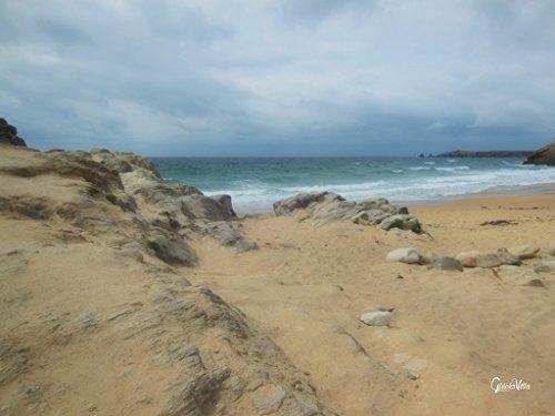 Glücksvilla Serie Bretagne 2: Sehnsucht nach dem Meer - 120 x 90 cm, Wandbild als XXL-Druck auf Acrylglas. Frankreich, Bretagne, Normandie, wild, wildes Meer, Felsen, Steine, Küste -