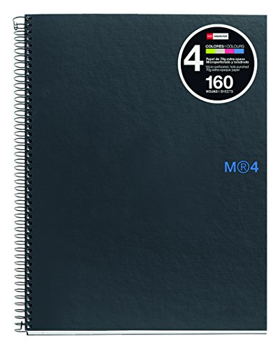 basicos-mr-2120-a5-4-colors-graphite-160-sheets-squared