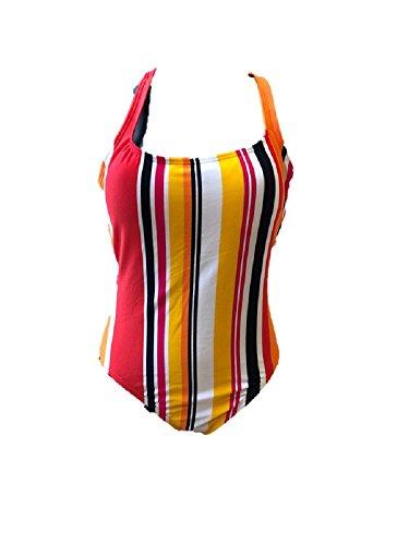 Nautica Damen Badeanzug Mehrfarbig weiß 42-44