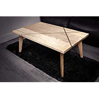 Geometric Coffee Table - Solid Ash with Brass Inlay by Ash and Co.
