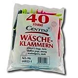 Centi Wäscheklammern, 40er Pack, farbig sortiert, Polypropylen, 1 Pack