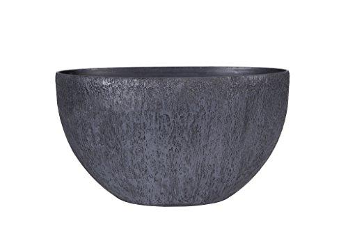 Universal Pot de fleurs, Coupe de fleurs Roto Pebble, résistant au gel et ultraléger, Gris, 60x35cm
