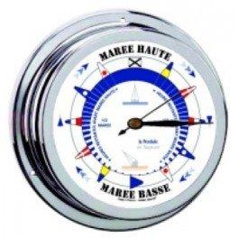 Pendule des Marée - Laiton poli et Chromé 145 mm