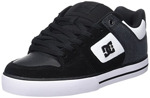 dc-shoes-pure-se-m-zapatillas-de-skateboarding-para-hombre-negro-black-white-39-eu