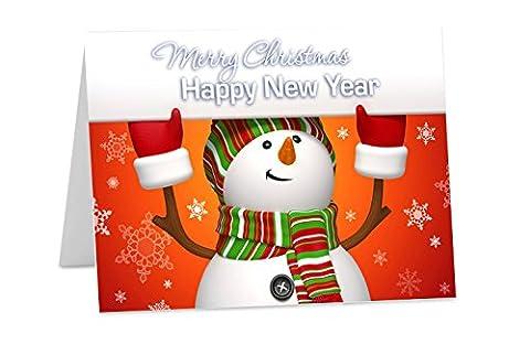 10x personalisierbar Weihnachten New Years Corporate oder Persönliche Grußkarten
