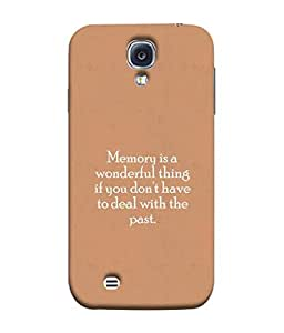 PrintVisa Designer Back Case Cover for Samsung Galaxy S4 I9500 :: Samsung I9500 Galaxy S4 :: Samsung I9505 Galaxy S4 :: Samsung Galaxy S4 Value Edition I9515 I9505G (Quatational memories :: wonderful quote :: Time quote design :: inspritional quote wallpaper::)