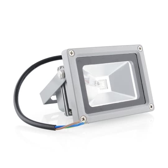 amzdeal LED RGB 16 Farben Fluter Außen Strahler Scheinwerfer