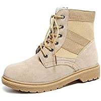 Wuyulunbi@ Women'S Shoes Spring Fall Comfort Combat Boots Boots For Casual Camel Black