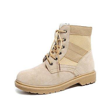 Wuyulunbi@ Scarpe Donna Primavera Autunno Comfort Combattere Stivali Stivali Per Casual Nero Cammello US6 / EU36 / UK4 / CN36