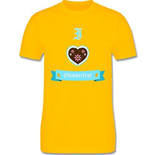 Oktoberfest Herren - I love Oktoberfest - Herren Premium T-Shirt Gelb