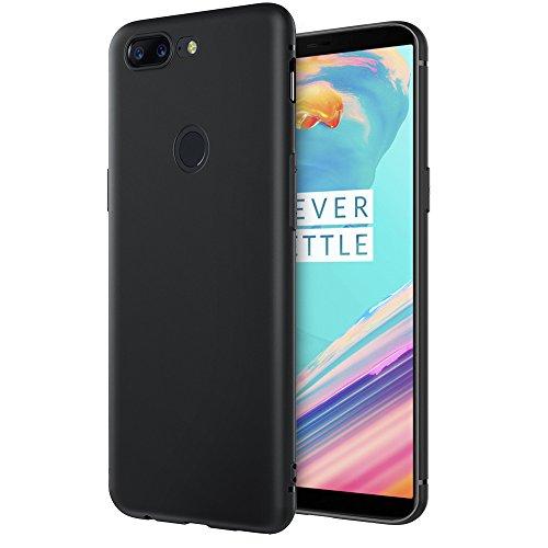 EasyAcc OnePlus 5T Hülle Case, Schwarz TPU Telefonhülle Matte Oberfläche Handyhülle Schutzhülle Schmaler Telefonschutz für Das OnePlus 5T