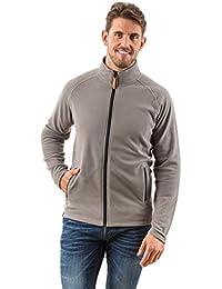 EDZ Microfleece Midlayer Jacket Full Zip Grey