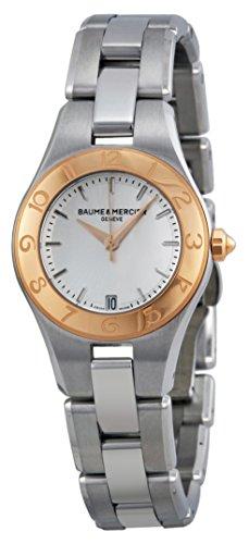 Baume y Mercier Linea Plata Dial Acero inoxidable Ladies Watch 10079