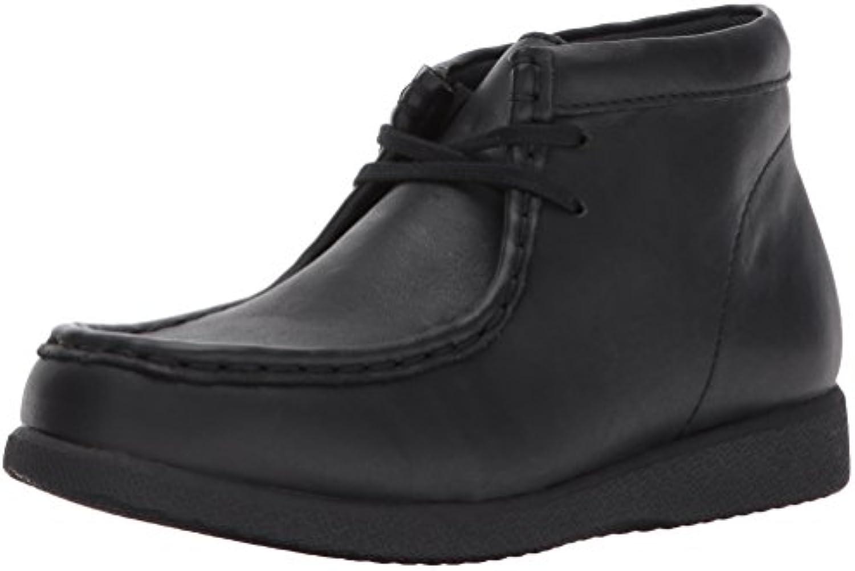 Hush Puppies Unisex Kids Bridgeport III Chukka Boot  Black/Black  5 Medium US Big Kid