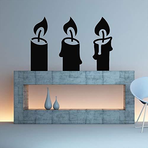 Candelabros de la vela Pegatinas de Pared Extraíbles para Chimenea Sala de...