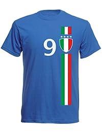 d455f3427465 aprom Italien Kinder T-Shirt Trikot Italia Kids No.9 WM EM Fussball Sport