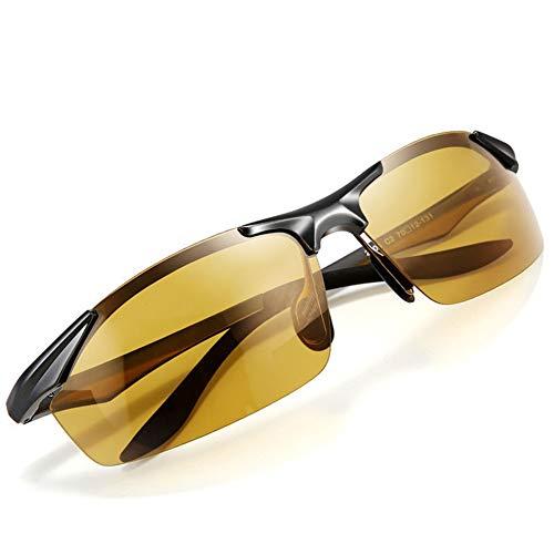 LXC Men es Sonnenbrille, Neue Sensitive Automatic Color Changing Night Vision Polarized Driver Driving Mirror Day und Nachttauschende,a