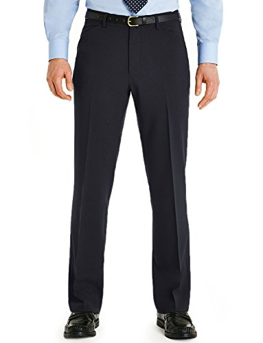 Mens Farah Frogmouth Pocket Trousers Navy 36x31