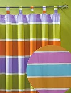 heimtexland gardine happy schlaufenschal blickdicht bunt gestreift hxb 260x140 cm k rzbar. Black Bedroom Furniture Sets. Home Design Ideas