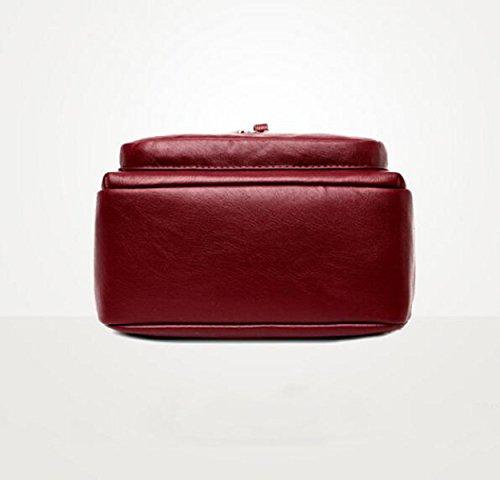 Handtaschen Mode PU Schultertasche Wilden Weichen Paket Sport Rucksack Copper