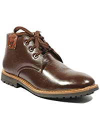 ICEBULL LEATHER Casual Shoes(Boots) With Brown Color- For Men's (JEC027) With Size(6-10)