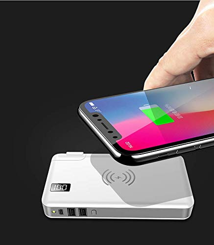 TIITAN Wireless Intelligent Charger,10000 mAh Portable Power Bank Detachable USB Wall Charger Multi-Protection Image 8