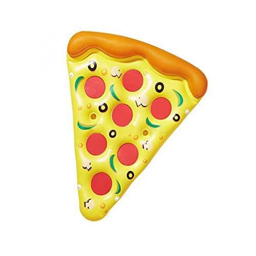 Ytt Aufblasbare Schwimm Pizza Slice Pool Spielzeug Wassermatratze Kreis Schwimmringe für Erwachsene Kinder