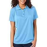 UltraClub Damen-Cool & Dry Jacquard Performance Polo Shirt