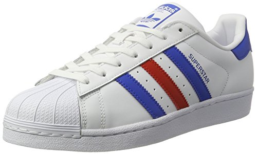 adidas Superstar Foundation Schuhe 6,5 white/blue/red