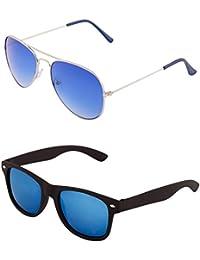 aee34e8299a ADDON EYE WEAR Metal and Composite Combo of non Polarized Aviator-Wayfarer  Sunglasses for Men