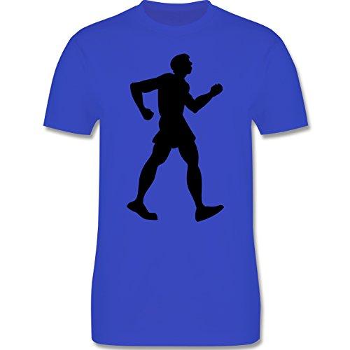 Laufsport - Walken - Herren Premium T-Shirt Royalblau